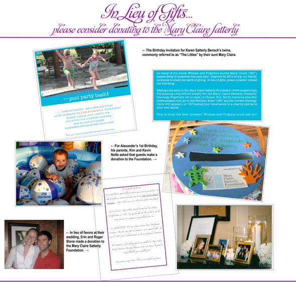 In Lieu of Gifts - Click for PDF File