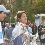 Whitney Wright Erhlich after running the NYC Marathon in November 2008.